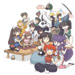 6+boys 6+girls black_hair bow brown_hair cat chinese_clothes closed_eyes cologne_(ranma_1/2) double_bun food happosai jusenkyo_guide kunou_kocho kunou_kodachi kunou_tatewaki kuonji_ukyou long_sleeves maomolin mousse multiple_boys multiple_girls ono_tofu p-chan panda pig ponytail purple_hair ranma-chan ranma_1/2 redhead sanzenin_mikado saotome_genma saotome_ranma shampoo_(ranma_1/2) shiratori_azusa short_hair smile table tendou_akane tendou_kasumi tendou_nabiki tendou_souun unoobang