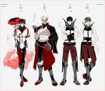 4boys ;) abs bandages bare_shoulders biceps black_gloves black_hair black_nails brown_hair capelet cherry_blossoms crossed_arms dark_skin flower frown genderswap genderswap_(ftm) glaring glasses gloves green_eyes hair_between_eyes hair_flower hair_ornament highres kantai_collection light_brown_hair looking_at_viewer machinery male_focus midriff multiple_boys musashi_(kantai_collection) muscle mutsu_(kantai_collection) mzet nagato_(kantai_collection) nail_polish one_eye_closed pale_skin partly_fingerless_gloves platinum_blonde_hair pointy_hair red_eyes semi-rimless_eyewear short_hair smile toned toned_male translation_request under-rim_eyewear white_gloves yamato_(kantai_collection)