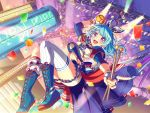 bang_dream! blue_hair blush long_hair matsubara_kanon shirt smile violet_eyes
