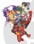 absurdres gen_1_pokemon gen_4_pokemon gen_7_pokemon highres incineroar lycanroc naganadel orange_fur pikachu pokemon pokemon_(anime) pokemon_(game) pokemon_sm red_fur rotom rotom_(normal) rowlet satoshi_(pokemon) ultra_beast