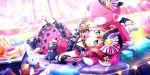 blush dress green_eyes kurosawa_ruby lollipop love_live!_school_idol_festival_all_stars pink_hair short_hair twintails