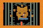 black_background brick commentary_request door fake_screenshot hata_no_kokoro heads-up_display heart kanpa_(campagne_9) key long_hair mask new_mask_of_hope open_mouth phanto pillar pink_hair pixel_art red_eyes smile super_mario_bros._2 touhou toyosatomimi_no_miko
