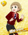 brown_hair character_name green_eyes himeno_kanon idolmaster idolmaster_side-m jacket short_hair