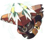 bull chorefuji full_body gen_7_pokemon hooves horns legendary_pokemon no_humans pokemon pokemon_(creature) solo tapu_bulu white_background