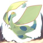 antennae black_eyes chorefuji claws closed_mouth dragon flygon flying gen_3_pokemon green_skin no_humans pokemon pokemon_(creature) sand solo white_background wings