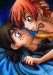 kasumi_(pokemon) lowres miyatoriaka satoshi_(pokemon) tagme