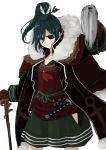 alternate_costume armor arrow_(projectile) cane coat epaulettes eyepatch highres japanese_armor katana murasa_minamitsu ponytail red_neckwear solo sword touhou walking_stick weapon