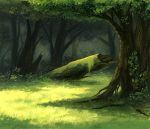 chorefuji commentary_request day foliage forest grass log moss nature no_humans original outdoors shade tree