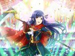 blue_hair dress kochou_shizuha long_hair red_eyes scythe shoujo_kageki_revue_starlight smile