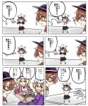 >u< 4girls aki_chimaki clapping fedora happy hat highres maribel_hearn multiple_girls multiple_persona red_neckwear touhou usami_renko usami_sumireko yakumo_yukari