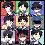 +++ /\/\/\ 2020 6+boys :d =3 amestris_military_uniform angry annoyed aqua_background artist_name black_eyes black_hair blue_background blue_headwear blush character_name chestnut_mouth chin_rest close-up closed_eyes closed_mouth coat collared_jacket collared_shirt conqueror_of_shambala dated dilated_pupils dress_shirt english_text expressions eyebrows_visible_through_hair face facepaint facing_viewer from_side fullmetal_alchemist fur-trimmed_coat fur_trim furrowed_eyebrows gloves green_background grey_background grey_eyes grin hair_slicked_back half-closed_eyes hand_on_own_chin hand_on_own_face hand_on_own_shoulder hand_up hat head_tilt highres holding holding_mirror looking_back looking_down looking_to_the_side male_focus military military_hat military_uniform mirror multiple_boys multiple_persona mushroom mushroomized no_eyes open_mouth orange_background patch profile purple_background red_background roy_mustang ru_(xremotex) sad shaded_face shiny shiny_hair shirt simple_background smile squiggle striped striped_background surprised sweatdrop tired turn_pale u_u uniform upper_body v-shaped_eyebrows whisker_markings white_gloves white_shirt winter_clothes