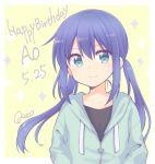 1girl artist_name happy_birthday koisuru_asteroid manaka_ao quro_(black_river) signature twintails