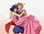 absurdres blush carrying heart highres huge_filesize kill_la_kill mankanshoku_mako matoi_ryuuko md5_mismatch prince princess_carry role_reversal yuri
