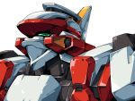 1990s_(style) arx-8_laevatein full_metal_panic! full_metal_panic!_invisible_victory gamiani_zero green_eyes highres looking_up mecha no_humans oldschool oobari_masami_(style) parody photoshop_(medium) solo style_parody white_background