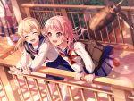 bang_dream! blush dress maruyama_aya pink_eyes pink_hair short_hair smile
