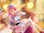 bang_dream! blush dress maruyama_aya pink_eyes pink_hair short_hair