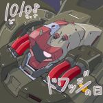 character_name close-up dated dwadge from_above gundam gundam_unicorn mao_(6r) mecha no_humans one-eyed pink_eyes solo zeon