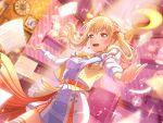bang_dream! blonde_hair blush dress long_hair pink_eyes shirasagi_chisato smile twintails