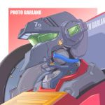camera character_name close-up gradient gradient_background looking_ahead mao_(6r) mecha megazone_23 no_humans one-eyed proto_garland solo visor