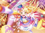 bang_dream! blonde_hair blush dress long_hair smile tsurumaki_kokoro twintails yellow_eyes
