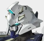 blue_eyes camera char's_counterattack close-up dated glowing glowing_eyes grey_background gundam highres looking_ahead mecha moi_moi7 no_humans nu_gundam redesign solo