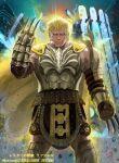 1boy armor blonde_hair boots cape claws electricity fire_emblem fire_emblem:_three_houses fire_emblem_cipher fur_trim gloves ippei_soeda official_art raphael_kirsten rock solo sparkle weapon yellow_eyes