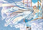 blue chii chobits clamp cleavage dress nopan scan thigh-highs your_eyes_only