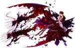 blonde_hair butterfly cape chain dog dress highres kariya_(mizore) red_hair thighhighs umineko_no_naku_koro_ni ushiromiya_battler when_they_cry_4 white