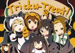 animal_costume cat_costume cosplay frankenstein frankenstein's_monster hajime_(hajime-ill-1st) halloween head_wings highres hirasawa_yui jack-o'-lantern k-on! kotobuki_tsumugi mummy nakano_azusa pumpkin tainaka_ritsu witch yamanaka_sawako