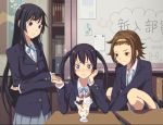 +_+ 3girls akiyama_mio bad_id black_eyes black_hair brown_eyes brown_hair dessert food hairband ice_cream k-on! long_hair multiple_girls nakano_azusa parfait school_uniform sparkle tainaka_ritsu yuuhi