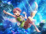 armpits dress fairy green_eyes isurugi_futaba pink_hair short_hair shoujo_kageki_revue_starlight smile