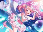 bang_dream! blush dress pink_eyes pink_hair short_hair smile twintails wakamiya_eve