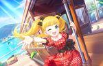 blonde_hair blush dress green_eyes idolmaster_cinderella_girls_starlight_stage long_hair mary_cochran smile train twintails