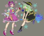 chamaruku cosplay hakurei_reimu hakurei_reimu_(cosplay) japanese_clothes kirisame_marisa kirisame_marisa_(cosplay) komeiji_koishi komeiji_satori miko pink_clothes touhou witch