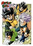 5boys :d arms_at_sides babidi bangs black_eyes black_hair blue_eyes border brothers clenched_hands clenched_teeth collarbone commentary copyright_name dougi dragon_ball dragon_ball_z evil_smile father_and_son fighting_stance fingernails flying frown full_body gloves green_eyes grin hair_between_eyes halo highres looking_at_viewer male_focus messy_hair multiple_boys muscle official_art open_mouth outstretched_hand palms pectorals perspective purple_background purple_hair serious shaded_face shiny shiny_hair siblings simple_background smile son_gohan son_gokuu son_goten spiky_hair teeth toriyama_akira trunks_(dragon_ball) v-shaped_eyebrows vegeta white_border white_gloves wristband