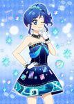 1girl aikatsu! blue_eyes blue_hair kiriya_aoi long_hair ponytail side_ponytail tagme
