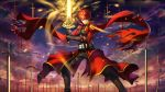 1boy absurdres emiya_shirou excalibur fate/stay_night fate_(series) gt_shoukyou highres jacket red_jacket redhead sword unlimited_blade_works weapon