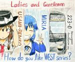 2girls english_text fedora ground_vehicle hamamiya_kabocha hat metro miria_(seihou) multiple_girls seihou touhou train usami_renko