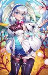1girl blue_eyes boots grey_hair highres melia silver_hair solo thighs wings xenoblade_(series) xenoblade_1 xenoblade_1:_tsunagaru_mirai yagi_(kyuhyun)