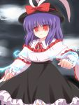 lightning nagae_iku purple_hair ribbon ribbons ry short_hair touhou