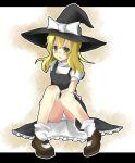 hat kirisame_marisa nekomu_shi panchira_sit panties pantyshot pantyshot_sitting sitting touhou underwear white_panties witch_hat yellow_eyes