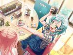bang_dream! blush dress green_eyes hikawa_hina short_hair smile