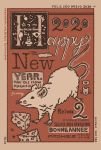 2020 art_deco cheese chinese_zodiac english_text food french_text happy_new_year highres language_request mouse muted_color new_year no_humans original spanish_text swiss_cheese year_of_the_rat yuusei_tsukiro