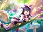 dress long_hair purple_hair shoujo_kageki_revue_starlight smile tsuyuzaki_mahiru violet_eyes