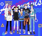175x172nyrn 5boys argonavis_from_bang_dream! bang_dream! blonde_hair blue_background blue_hair brown_hair character_doll disneyland goryou_yuuto green_hair group_name kikyou_riou male_focus matoba_wataru md5_mismatch minnie_mouse_ears multiple_boys nanahoshi_ren pooh redhead shiroishi_banri winnie_the_pooh