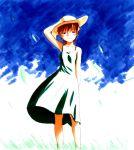 fate/stay_night fate_(series) fujimura_taiga hat jas outdoors straw_hat