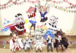 6+girls :d :o ;d ^_^ absurdres ahoge aiguillette akagi-chan_(azur_lane) american_flag_legwear anchor_necklace animal animal_ears apron arm_up arms_up azur_lane bangs bare_shoulders belchan_(azur_lane) belfast_(azur_lane) bell bird black_dress black_footwear black_gloves black_headwear black_kimono black_legwear black_skirt blonde_hair blue_bow blue_capelet blue_dress blue_eyes blue_footwear blue_hair blue_skirt blunt_bangs blush bow bowtie bracelet braid breasts brown_hair cape capelet chair character_doll chick child_drawing choker clenched_hands closed_eyes coat_dress collarbone collared_dress commander_(azur_lane) commentary_request confetti detached_collar doll double_v dress elbow_gloves eyebrows_visible_through_hair fake_wings fingerless_gloves fox_ears fox_girl fox_tail french_braid frilled_apron frills full_body fur-trimmed_cape fur_trim gloves gold_trim group_picture hair_bell hair_between_eyes hair_bow hair_intakes hair_ornament hairclip hand_on_hip hat hiei-chan_(azur_lane) highres holding holding_animal holding_doll horns huge_filesize index_finger_raised iron_cross japanese_clothes jewelry jumping kimono knees_together_feet_apart lace-trimmed_headwear lace_trim little_cleveland_(azur_lane) little_helena_(azur_lane) little_illustrious_(azur_lane) little_renown_(azur_lane) little_san_diego_(azur_lane) long_hair long_sleeves looking_at_another looking_at_viewer low_twintails maid_apron maid_headdress manjuu_(azur_lane) midriff_peek military_hat multicolored multicolored_cape multicolored_clothes multiple_girls multiple_tails nako_nya navel necktie one_eye_closed one_side_up open_mouth outstretched_arm pantyhose parted_bangs peaked_cap pink_eyes pleated_dress pleated_skirt red_bow red_eyes red_footwear red_neckwear red_skirt redhead ribbon sakuramon shadow shirt shoes short_hair sidelocks signature silver_hair sitting skirt sleeveless sleeveless_dress sleeveless_shirt small_breasts smile stage standing standing_on_chair star_(symbol) star_print strapless st