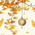 autumn_leaves ginkgo_leaf no_humans original quacx3 simple_background watch watermark white_background