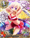 1girl bishop_(chess) blonde_hair blue_eyes card_(medium) character_name chess_piece high_school_dxd le_fay_pendragon official_art solo trading_card