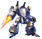 arm_cannon camera highres looking_down mecha mechanical_wings one-eyed open_hand original shoulder_cannon solo taedu weapon white_background wings